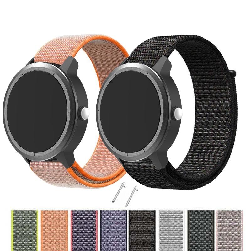 Tejido de la correa de Nylon para Garmin Vivoactive3 de liberación rápida con banda para Garmin Forerunner 645 banda de reloj de pulsera Correa