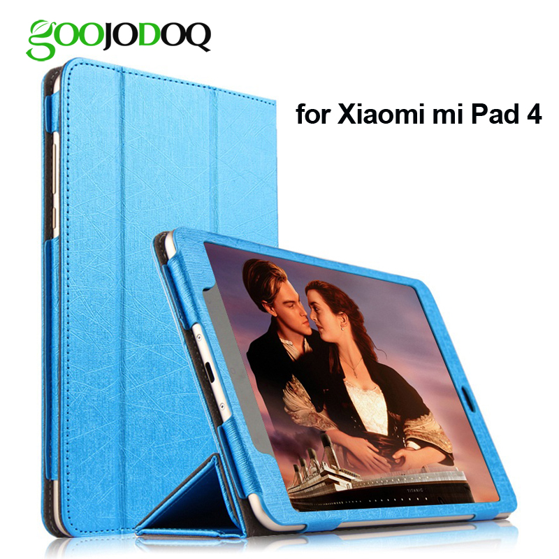 8 Case for Xiaomi Mi Pad 4 Tri-fold Stand PU Leather Smart Cover Cover Shell for Xiaomi mipad 4 Case Shockproof Thin Slim 8 case for xiaomi mi pad 4 silicone soft back cover shell for xiaomi mipad 4 case shockproof thin slim tpu protective cover