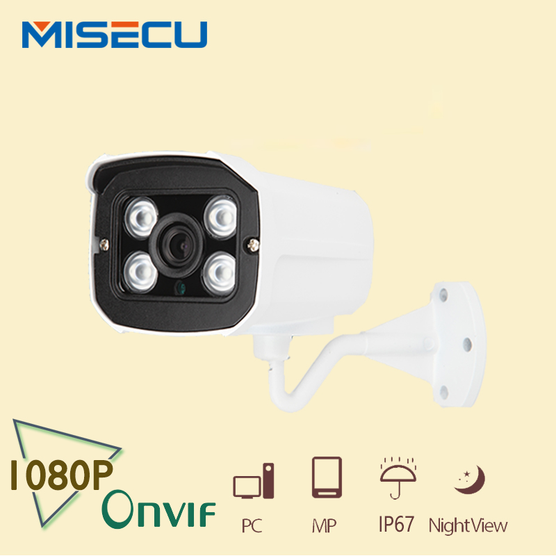 MISECU 1920 1080 2 0MP IP font b Camera b font 1080P 4pc array leds ONVIF