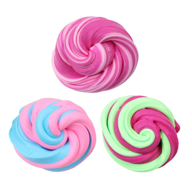 Diy Fluffy Foam Clay Splicing Color Stress Relief Model Scented Educational Slime Antistress Toy Handmade Toy For Children Gift Fashionable Patterns Learning & Education
