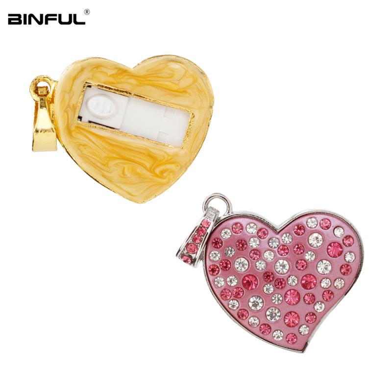 Image 5 - New Arrival pen drive metal love Heart usb flash drive 32gb crystal pendrive 128GB 64GB 16GB 8GB 4G flash Memory stick best gift-in USB Flash Drives from Computer & Office