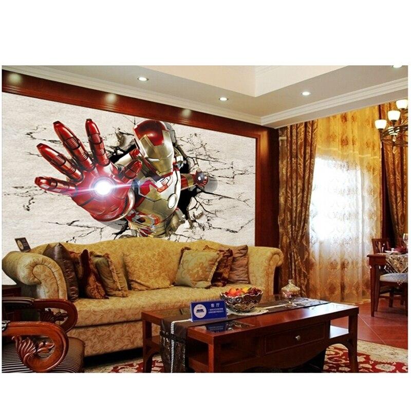 Non woven Wallpaper Custom Wallpaper Murals 3d Iron Man Bedroom