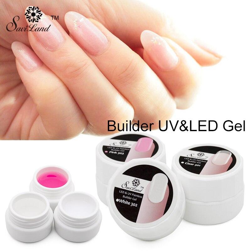 Saviland Nail Extension Gel Thick Strong Uv Builder Gel Natural ...