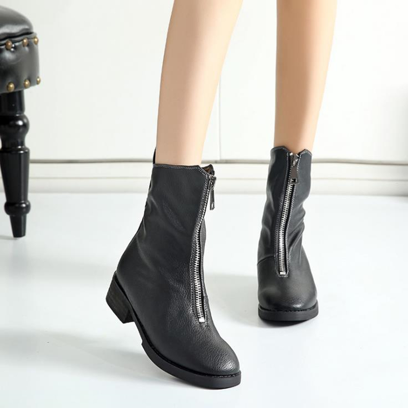 ZIMNAFR BRAND 2018 AUTUMN&WINTER MARTIN BOOTS SNOW BOOTS WINTER BOOTS ZIPPER GENUINE LEATHER KNEE-HIGH WOMEN BOOTS allbitefo full genuine leather mixed colors chains design fashion brand women knee high boots winter snow zip women boots