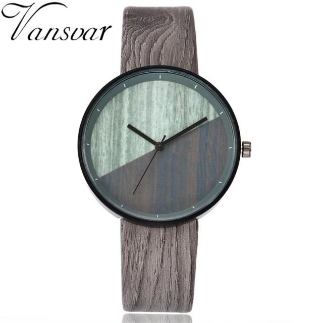 Vansvar  Watches Woman  Wooden Color  Casual   Quartz  Wristwatches  Fashion Luxury Simple  Montre Femme  Watch  18MAR28 2