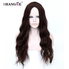 SHANGKE Длинные Каштановые Волосы Парики Афро-Американской Странный Фигурные Парики Для Чернокожих Женщин Теплоизоляционный Синтетический Поддельные Волосы Штук