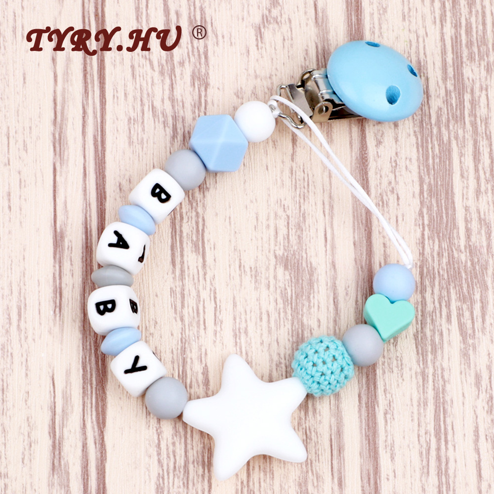 Baby Silicone Beads Teether Teething Toy Bead Pacifier Chain Clip Ring Bracelet