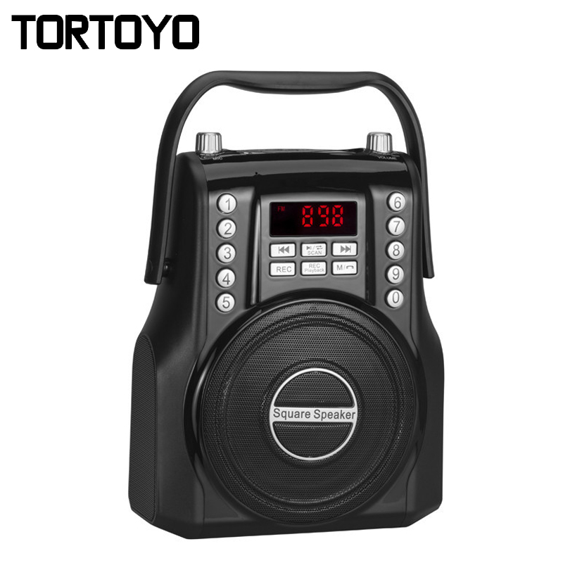 15W Square Wireless Bluetooth Speaker FM Radio Receiver Digital 3D Subwoofer Portable Music MP3 Player Micro SD/TF Card USB Slot exrizu ms 136bt portable wireless bluetooth speakers 15w outdoor led light speaker subwoofer super bass music boombox tf radio
