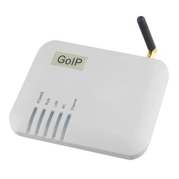 Darmowa dostawa! Bramka VOIP GoIP-1 diody led bramy VoIP do zasilania gotowości stanu WAN PC GSM tanie i dobre opinie YANHUI Brama VoIP 13*10*6(cm) grey 12V DC