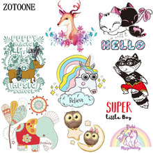 ZOTOONE Iron on Transfer Patches for Clothing Cute Animal Cat Dog Rainbow Unicorn DIY Kids Gift Beaded Applique Clothes