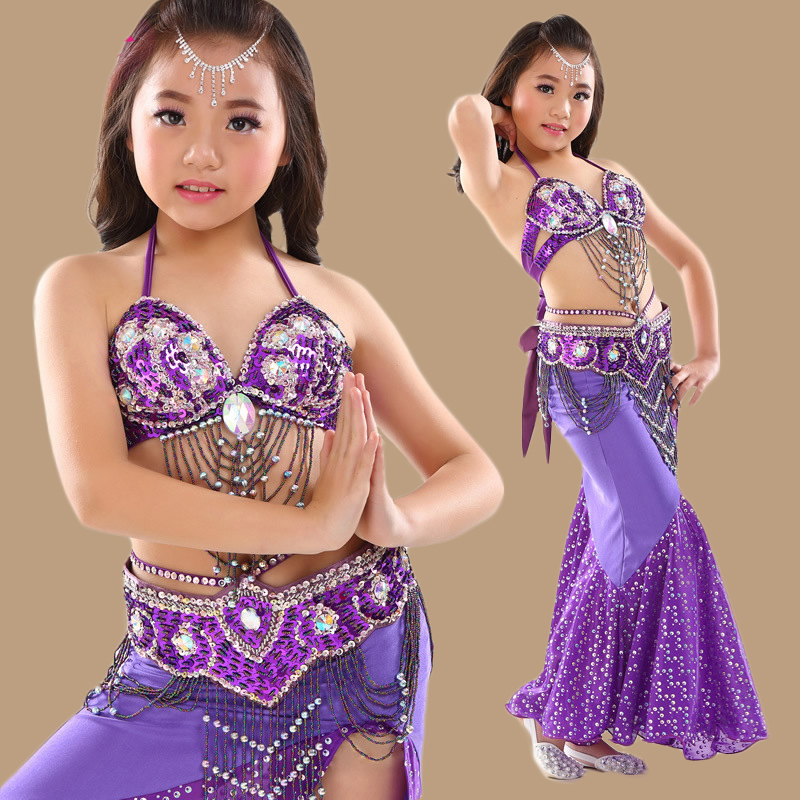New Costume Temptation Veil Belly Dance Wear Top With Bra Dress Set Suit