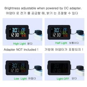 Image 4 - カラフルな液晶テーブルデジタルスマートアラーム時計温度温度計湿度湿度計デスクトップ充電器覚ますスヌーズ