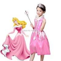 Nuevos Niños Kids Baby Girl Vestidos Bella Durmiente Princesa Trajes de Cosplay Wear Realice Ropa Venta CALIENTE del envío libre
