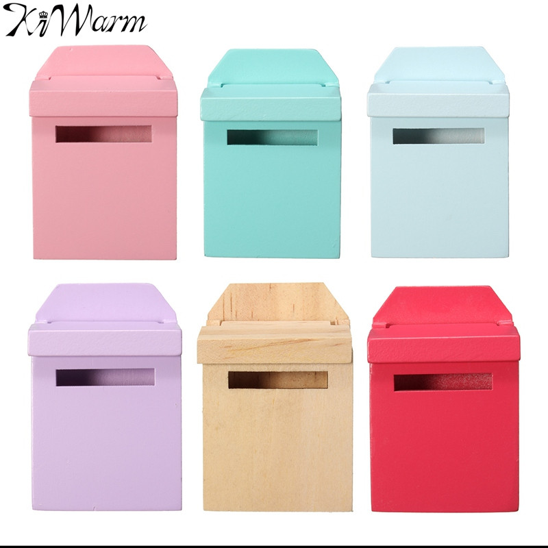 1Pcs 1/12 Scale Colorful Mailbox Ornaments Gadget Doll