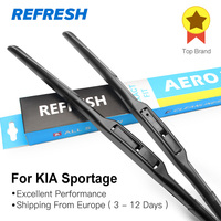 Car Wiper Blade For KIA Sportage 24 18 Rubber Bracketless Windscreen Wiper Blades Wiper Car Accessories