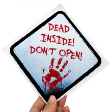 DEAD INSIDE DONT OPEN Car Sticker Blood Handprint Horror ZOMBIE Reflective Auto Decals Auto Decoration 14*14cm Car-styling(China)