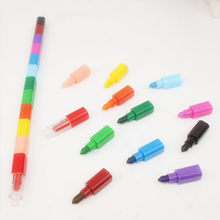 12 Colors Baby Drawing Crayons Colorful Oil Paint Pen Children Kids Creative Blocks Crayons Painting Supplies Gift(China)
