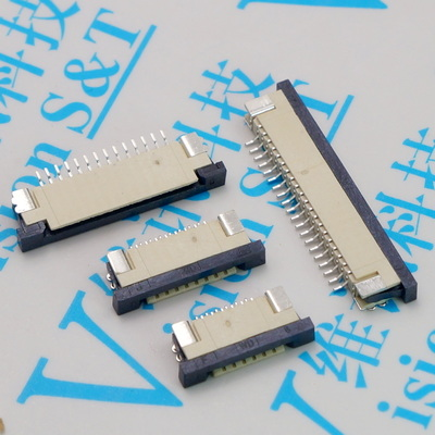 FPC Pitch 1.0mm 4/5/6/8/9/10/12/13/14/15/16/18/20/22/24/25/26/28/30Pin Drawer Connector SMT Type Ribbon Flat Bottom Contact