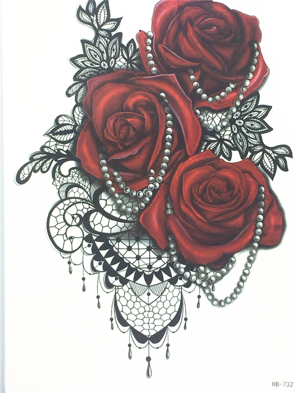 Rose Henna Tattoo Designs On Wrist: 2017 Fashion Sexy Flash Waterproof Tattoo Women Henna