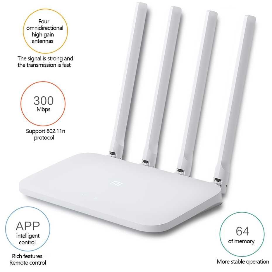 Оригинальный Xiao mi Wi-Fi роутер 4C Wi Fi 64 ram 802,11 b/g/n 2,4G 300 Мбит/с 4 антенны приложение управление Беспроводной ретранслятор роутеров
