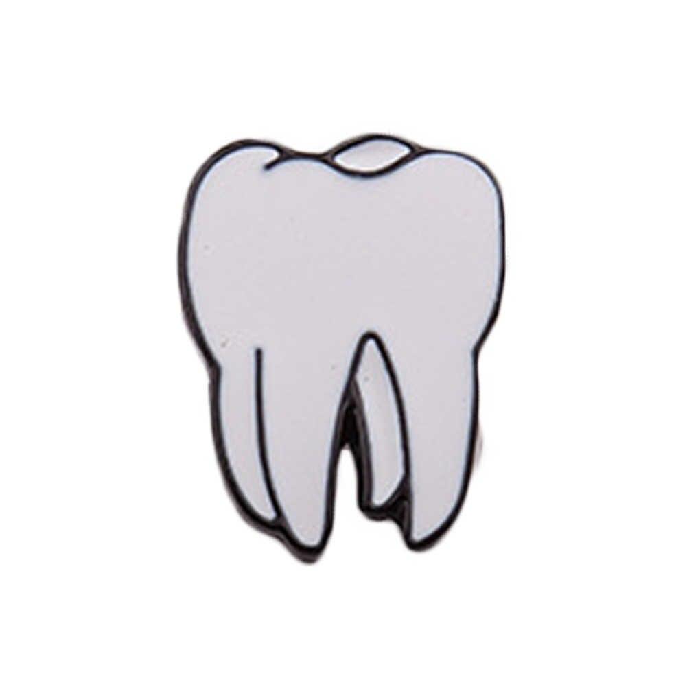 שיני עין 1 pc סגסוגת אבץ אמייל לב המוח איברי גוף אדם עבור נשים תכשיטי סיכות סיכות סיכת מחט יכול dropshiping