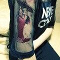 Tatuaje Temporal a prueba de agua de Las Mujeres 21*10.5 cm 2 UNID Rosa Pegatinas Tatuaje Japón Muchacha de La Cereza Brazo Cuerpo Arte Belleza Maquillaje exotico