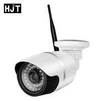 HJT H.264 Full HD 1080P 2.0MP SD Card Slot Network Camera P2P 36IR Night Vision CCTV Camera White Motion Metection Onvif 2.1