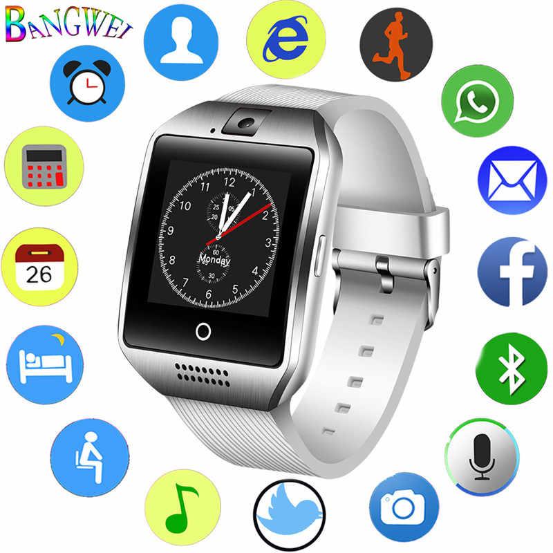 LIGE hombres mujeres gran Dial reloj inteligente hombres deporte impermeable Smartwatch soporte tarjeta SIM llamada de voz Bluetooth reproductor de música + caja
