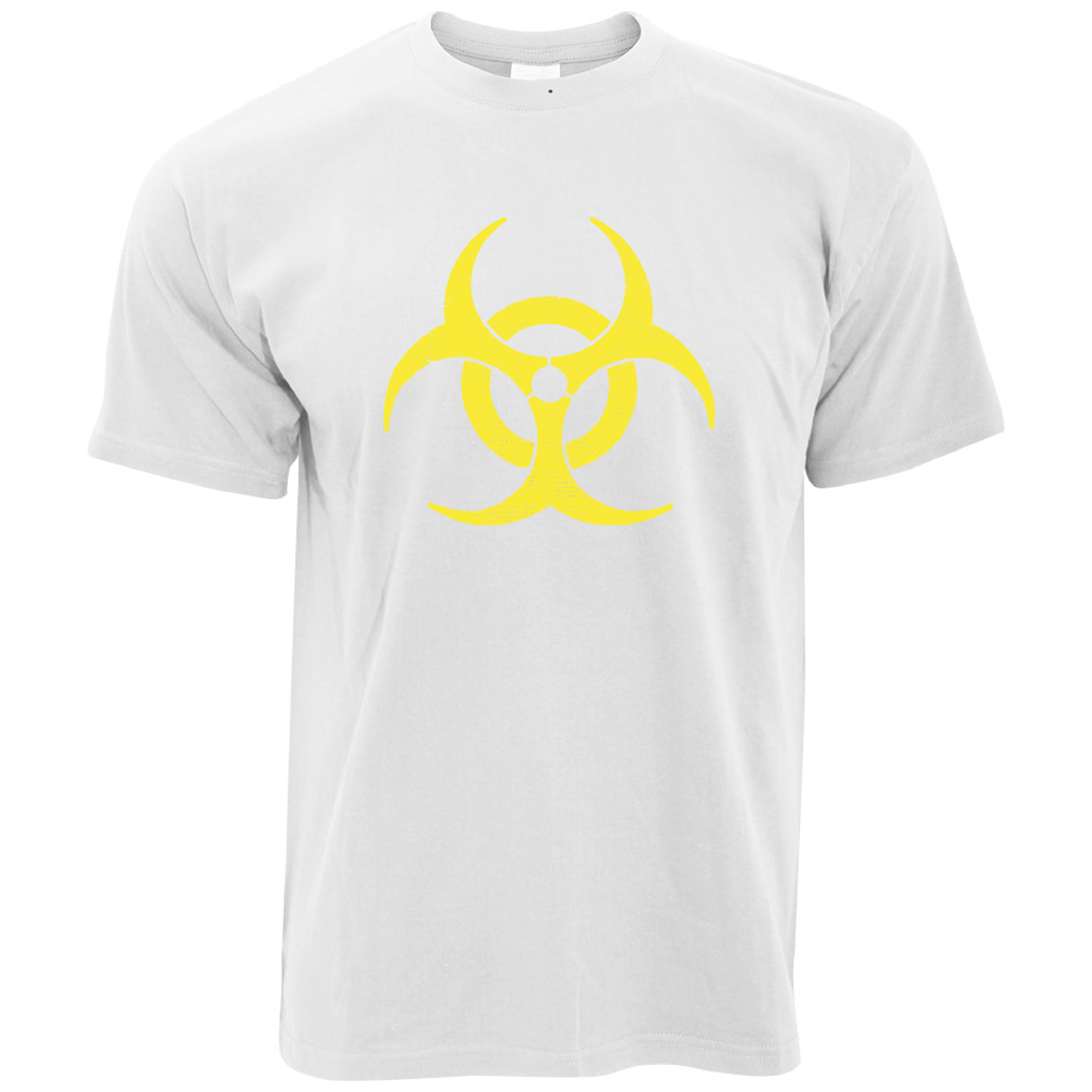 Biohazard Distressed Logo Warning Danger Hazardous Sign Cool Gift Mens T-Shirt Print Tees Short Sleeve O-Neck
