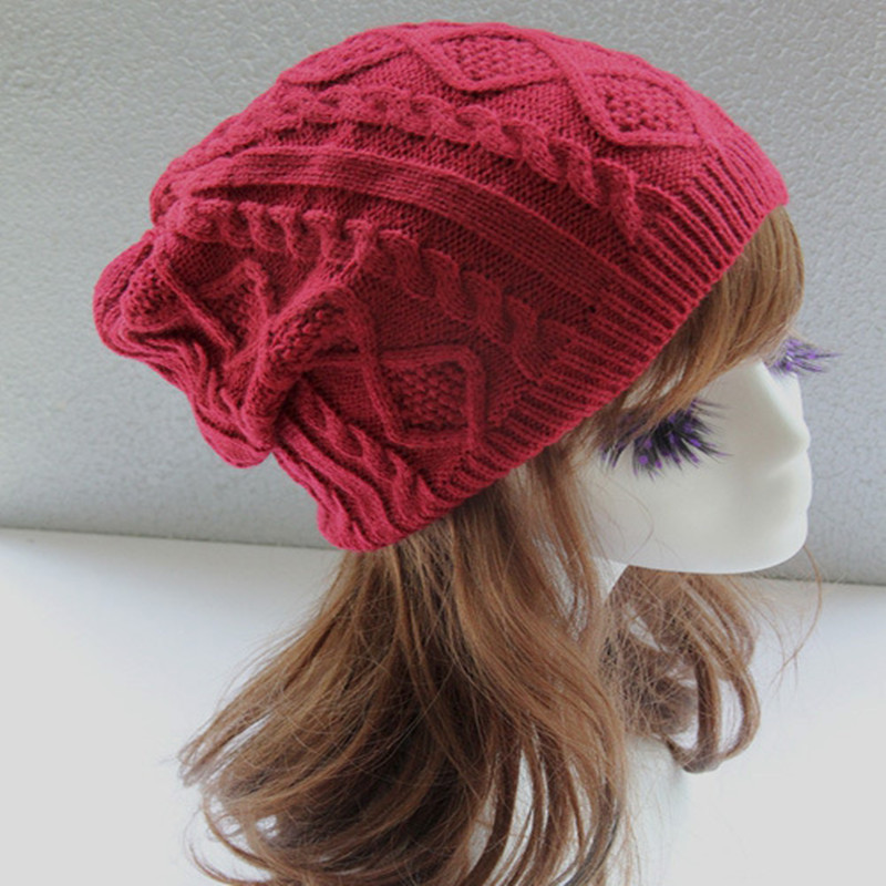 2018 Winter Women knitted hat Twist Design   Beanie   Women's Autumn Warm Skull Cap Bonnet Femme Gorros Mujer Invierno Chapeu New