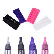 10 adet makyaj kozmetik makyaj fırçası koruyucu kalem muhafızları makyaj fırçaları kılıf örgü koruyucu kapak makyaj araçları