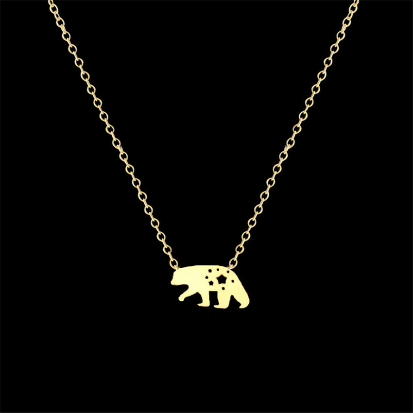 Stainless Steel New romantic silver color Polar Bear Pattern Pendant  Necklace For Women fashion Jewelry Body Chains -in Pendant Necklaces from  Jewelry ... 330cc5fc12