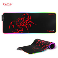 Marvo Mouse Pad, Large RGB Gaming Mouse Pad with Control Glowing Edging, Non Slip Rubber Base Keyboard Mousepad MG10