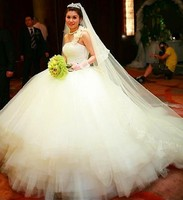 Dream Ball Gown One Shoulder Wedding Dresses Luxury Tube Top Heart Shaped The Whole Diamond Train Bridal Gowns