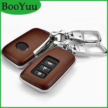 BooYuu ABS+Cowhide key shell Case Cover For Lexus RX270 ES250 NX200t E200 CT200h GS IS NS ES NX LX Car