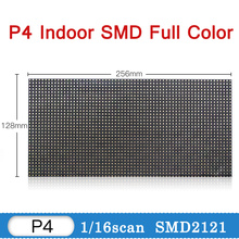 купить P4 4mm Indoor RGB Full Color LED Display Module 256*128mm 64*32 pixel LED Screen Module for Indoor Led Display Board Accessory по цене 725.3 рублей