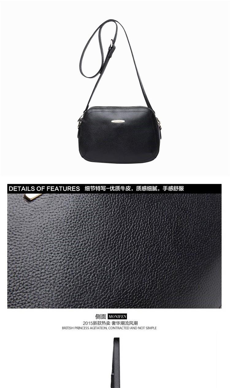 New 2015 Fashion Women Genuine Leather Messenger Bag Shoulder Bags Crossbody  Bolsos Carteras Mujer Marca Handbags Famous Brands09