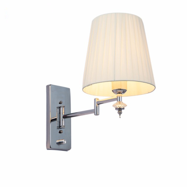 HGhomeart Modern Sconce Wall Lights E27 Swing Arm Wall Lamp Luminaria  Bedside Reading Lamp Crystal Wall Sconce Bathroom LightsHGhomeart Modern Sconce Wall Lights E27 Swing Arm Wall Lamp Luminaria  Bedside Reading Lamp Crystal Wall Sconce Bathroom Lights