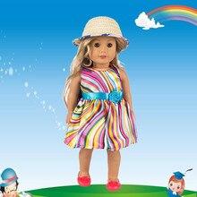 Lindo suéteres ropa trajes vestido falda 18 pulgadas nuestra generación  chica muñeca bebé muñeca accesorios Dropshipping e80964d998c