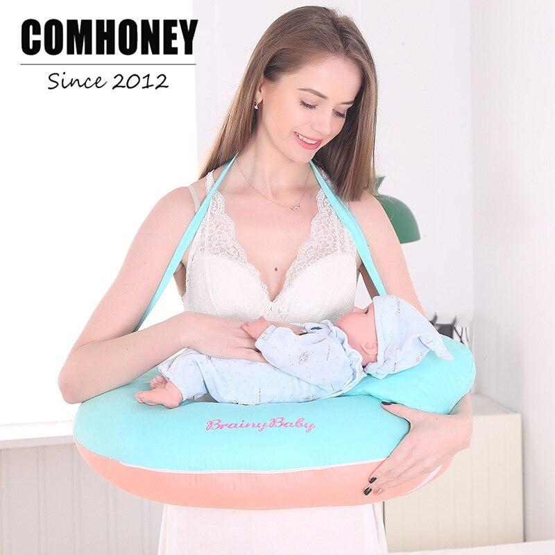 цена на Breast Feeding Cushion Infant Baby Comfort Nursing Pillow Multi-functional Detachable Newborn Cotton Nursing Pads Breast Pump