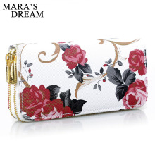 Mara's Dream, женский кошелек, с принтом розы, кошелек, модные сумки, дикая двойная молния, клатч, сумка, много карт, женская сумка, кошелек