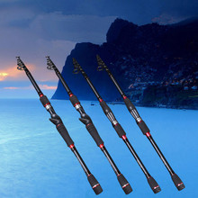 2.1M Ultralight Lure Rod telescopic carbon fishing rod 6 Part Lure Spinning Fishing Rod Journey Rod Moveable Fishing Deal with