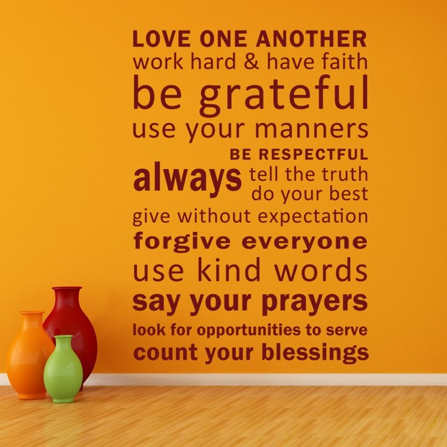 Love One Another Quotes Love One Another, Have Faith, Be Grateful Vinyl inspirational  Love One Another Quotes