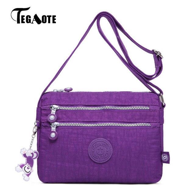 TEGAOTE Small Shoulder Bags Female Solid Mini Bags Handbags Women Famous  Zipper Flap Nylon Beach Crossbody Bag Sac A Main 2018 01a36929fec6c