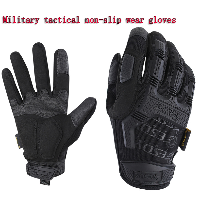 New 2019 Black0hawk army military men gloves mechani7x tactical combat gloves gants moto Non-slip wear-resistant 3-color gloves
