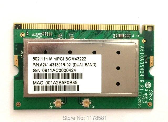 New Wireless Card Broadcom BCM43222 4322 300Mbps Wireless Card Mini PCI-E 802.11a/b/g/n