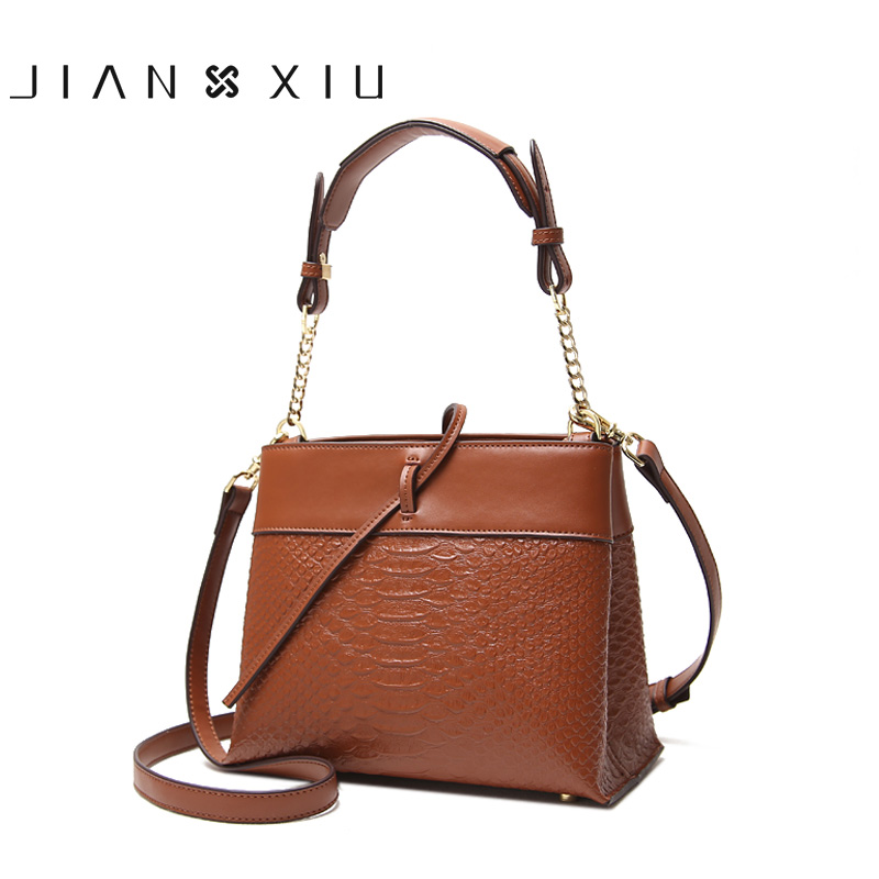 JIANXIU Women Messenger Bags Split Leather Bag Bolsa Bolsos Mujer Sac Tassen Bolsas Feminina Shoulder Crossbody Borse Chain Bag fashion matte retro women bags cow split leather bags women shoulder bag chain messenger bags