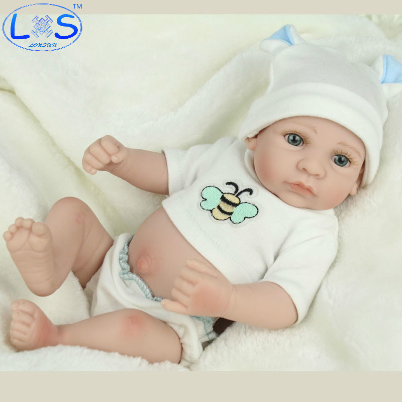 LONSUN Early Childhood Silicone Reborn Dolls Hobbies Stuffed Toys Accessories Bedtime Early Education Girl Toys Christmas Gift jennifer vannatta hall music teaching self efficacy in early childhood teacher education