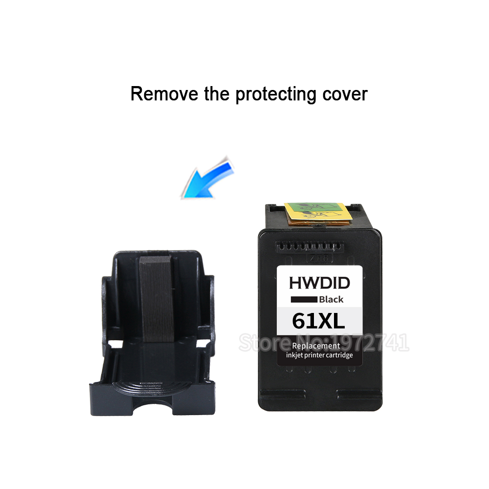 Image 3 - HWDID 61XL Refilled Ink Cartridge replacement for HP 61 XL for HP
