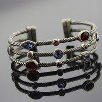 Стерлинговое серебро ювелирные изделия три ряда ледяной браслет дизайн ювелирный бренд браслет женский браслет подарки на день Благодарен